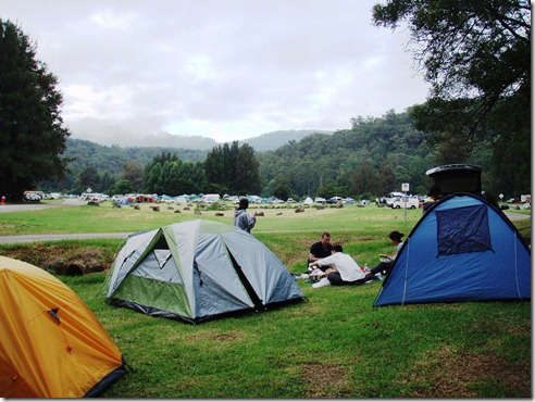 Our camp site for Friday night