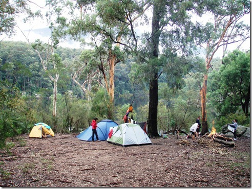 Camp just setup on Saturday night after the thunderstorm