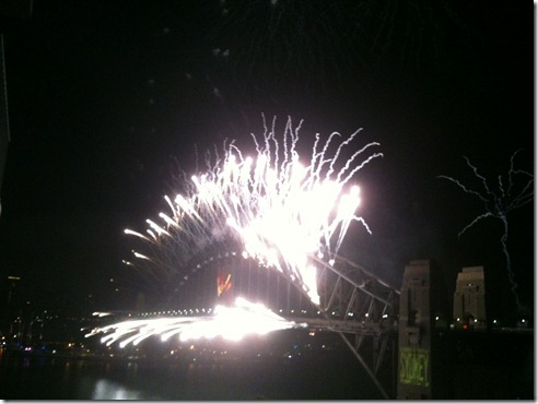 The Sydney bridge was on fire!