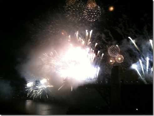 The final seconds of the fireworks when all hell let loose