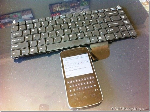 Samsung Galaxy Nexus keyboard