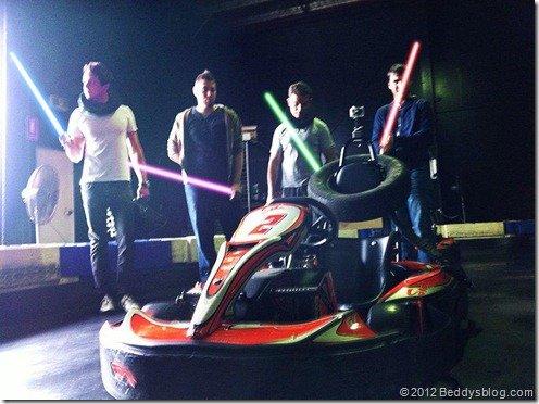 karting with lighsabers