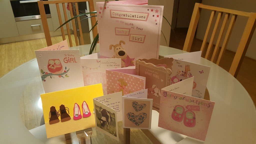 Newborn cards for Zara